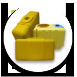 Желтая пластиковая емкость